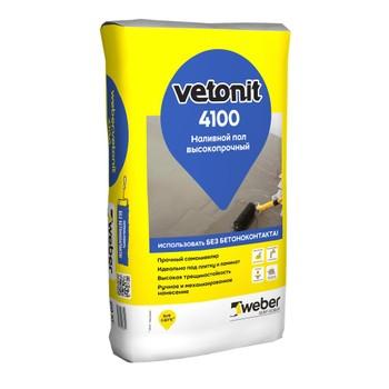 Ровнитель для пола weber.vetonit 4100 самовыравнивающийся, 25 кг