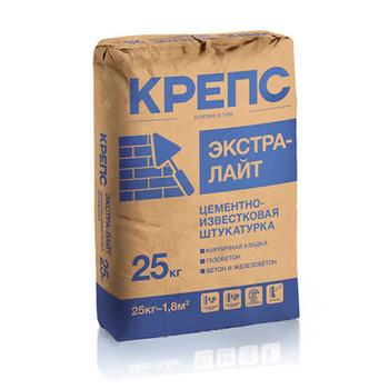 Штукатурка Крепс Экстра Лайт, 25 кг