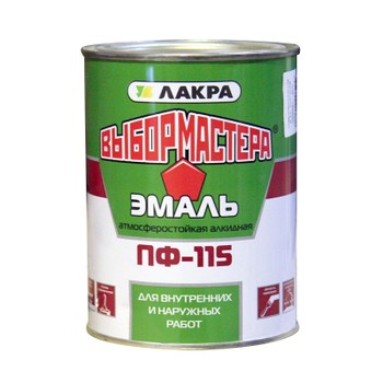 Эмаль ПФ-115 красная 0,9кг (Выбор Мастера)