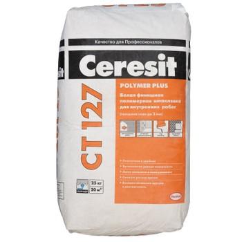 Шпатлевка Ceresit CT127 полимерная для внутренних работ, 25 кг