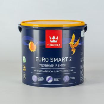 Краска Тиккурила Euro Smart 2 для потолков, гл/мат., 2,7л