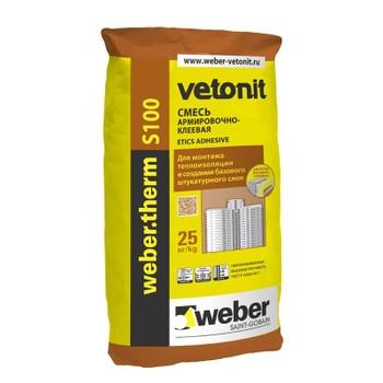Армировочно-клеевая смесь Weber.Vetonit Therm S100 (-10 С), 25кг