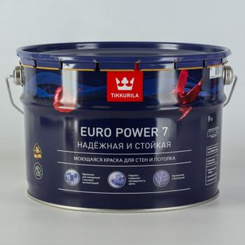 Краска Тиккурила Euro Power 7 моющаяся для стен и потолков, мат., 9л