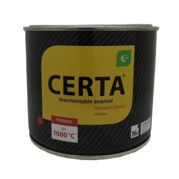 Эмаль термостойкая (до+1000°С) черная CERTA, 0,4кг