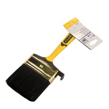 Кисть флейцевая 80мм черн. щет., желтая 2-комп.ручка, Color Expert