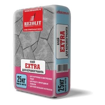 Клей для плитки Extra усиленный Rezolit, 25кг