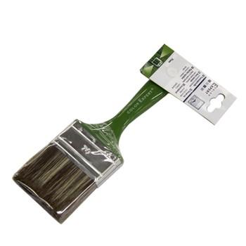 Кисть флейцевая Color Expert, зеленая ручка, 70 мм