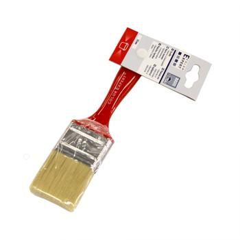 Кисть флейцевая светлая щетина красная пластмассовая ручка Color Expert 50 мм