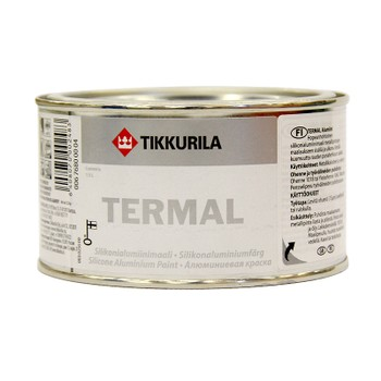 Краска Тиккурила Термал (до+600°С) (силикон-алюмин.), 0,33л