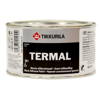 Краска силиконовая Tikkurila Termal (до+400°С) черная, 0,33л