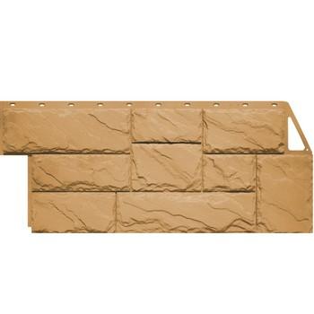 Панель 1,37х0,47х10шт Фаин Бир (цок.сайдинг), Камень крупный Песочный