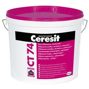 Штукатурка Ceresit CT74 камешковая (зерно 1,5 мм), 25 кг