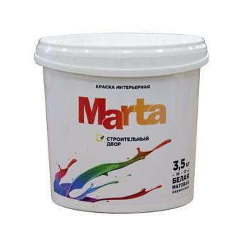 Краска Марта интерьерная белая акриловая, 3,5кг