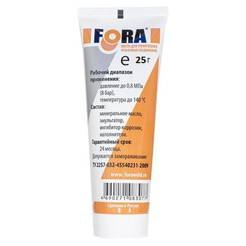 Паста для уплотнения резьбовых соединений FORА, 25 гр