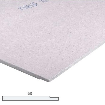 Гипсоволокнистый лист 1200x2500х12,5мм, (с фаской) КНАУФ