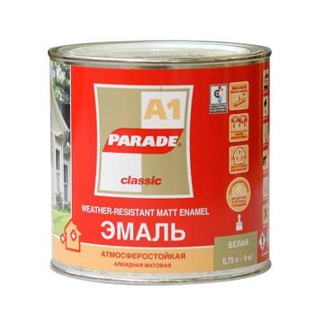 Эмаль PARADE А1 белая мат.(0,75 л)