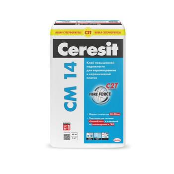 Клей для плитки (С1 Т) Ceresit CM14, 25 кг