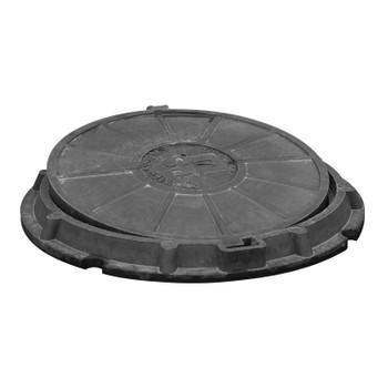 Люк полимерпесчаный 620х750х600х35 (черный)