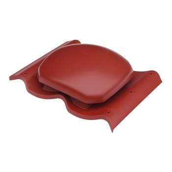 Выход вентиляции Ø160 на металлочерепицу (красный)