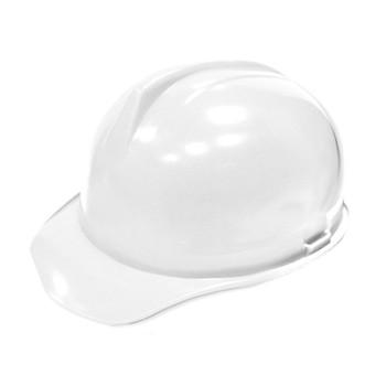 Каска строительная белая с храповым механизмом