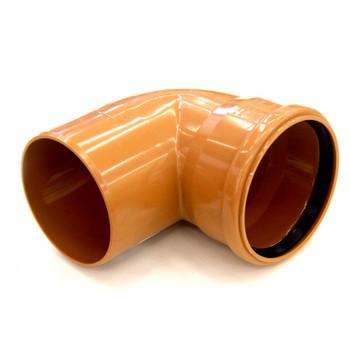 Отвод наружный канализационный 160 87°