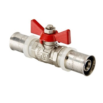 VT Кран шаровый под пресс 16 мм (для мп систем) уп. 12 шт