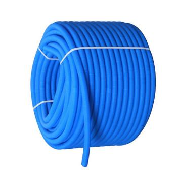 Цветная гофрированная трубка Ø32 (на 20 и 26-ю трубу) синяя, бухта 50м