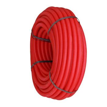 Цветная гофрированная трубка Ø25 (на 16-ю трубу) красная, бухта 100м