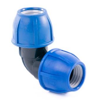 Отвод компрессионный соединительный 90° 32 РТП