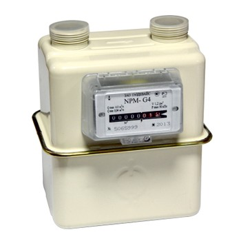 Счетчик газа NPM-G 4 (до 6 м3/ч) правый (справа-налево, адап 2шт Ду20, фильтр) 1к=12шт Газдевайс