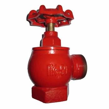 Вентиль угловой пожарный чугунный Д50 ВР-НР