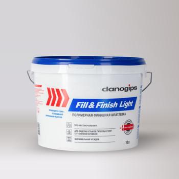 Шпатлевка готовая Danogips Fill&Finish Light (облегченная), 10 л