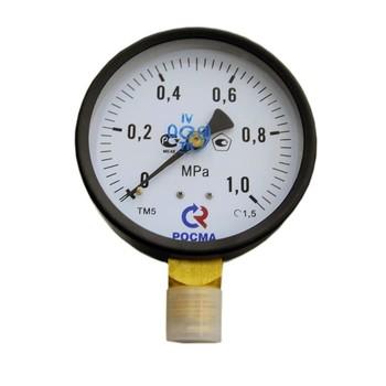 """Манометр радиальный 10 бар (кгс/см2), d=100мм, G1/2"""", ТМ-510Р, РОСМА"""