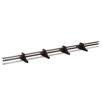 Снегозадержатель трубчатый 3000мм (ПЭ-8017) коричневый
