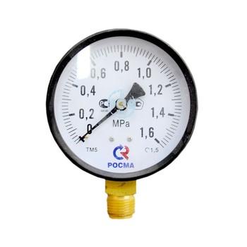 Манометр радиальный 16 бар (кгс/см2), d=100мм, М20х1.5, ТМ-510Р, РОСМА