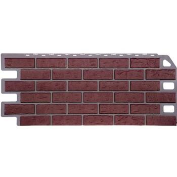 Панель 1,135х0,47м Файн Бир (цокольный сайдинг), кирпич красный
