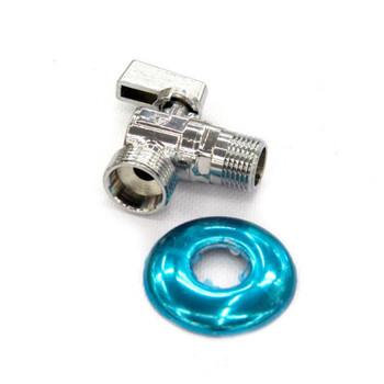 Кран шаровый угл. для подкл. сантехприборов с отражателем НР 1/2х1/2 HLV
