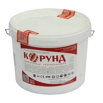 Жидкий керамический теплоизоляционный материал Корунд Фасад 10 л.