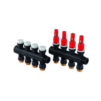 Пластиковый коллектор Uponor с 4-мя расходомерами