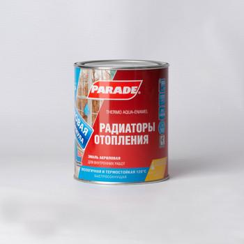 Эмаль для радиаторов и батарей Parade A4 (до +120С), белая, полуматовая, 0,9л