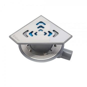 Трап для душа Pestan Confluo Standard Angle 1 200х200 мм (13000013) стальная решетка