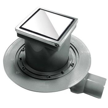 Трап для душа Pestan Confluo Standard Dry 1 100х100 мм (13000104) белое стекло
