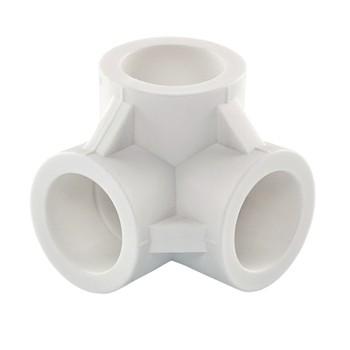 Тройник полипропиленовый соединительный двухплоскостной 20 TEBO