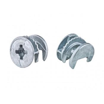 Стяжка эксцентриковая для ДСП 18-20 мм (белый цинк 8 шт)