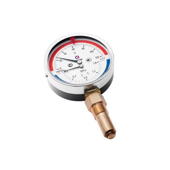 """Термоманометр радиальный 0-120°С, d=100мм, 16 бар, G1/2"""", ТМТБ-41Р.1, РОСМА"""