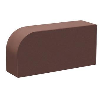 Кирпич облицовочный полнотелый одинарный М-400, коричневый радиусный, ЛСР