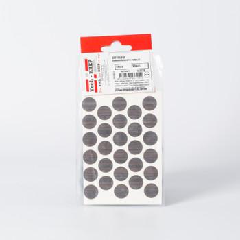 Заглушка самоклейка 14 мм орех темный (50 шт) - пакет