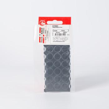Заглушка самоклейка 14 мм черная (50 шт) - пакет