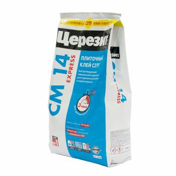 Клей для плитки быстротвердеющий (С1 Т F) Ceresit СM14 Express, 5 кг