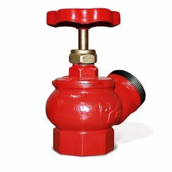 Вентиль угловой пожарный чугунный Д65 ВР-НР